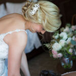 Up-Do Hairstyle for Bride in Lake Tahoe Wedding