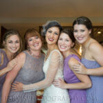 Elegant Bride and Bridal Party Hair and Makeup for Tahoe Wedding