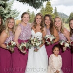 Best Bride and Bridal Party Makeup and Hair On-Site for Lake Tahoe Golf Course Weddings