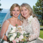 Bride and Mom's Hair and Makeup for Summer Wedding in Lake Tahoe