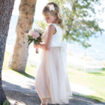 Tahoe Wedding Flower Girl Hairstyle