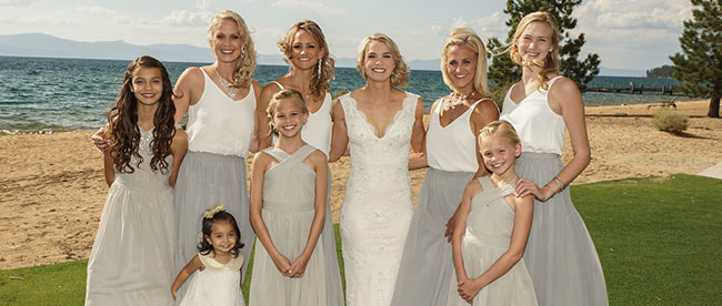 Tahoe Wedding Hair and Makeup for Bride and Bridal Party