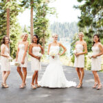 Bride and Bridal Party Lake Tahoe Wedding Hair and Makeup