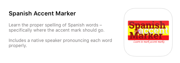 Spanish Accent Marker App