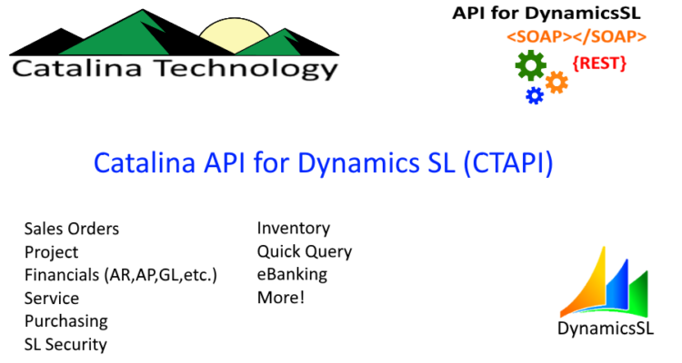 Catalina API for Dynamics SL