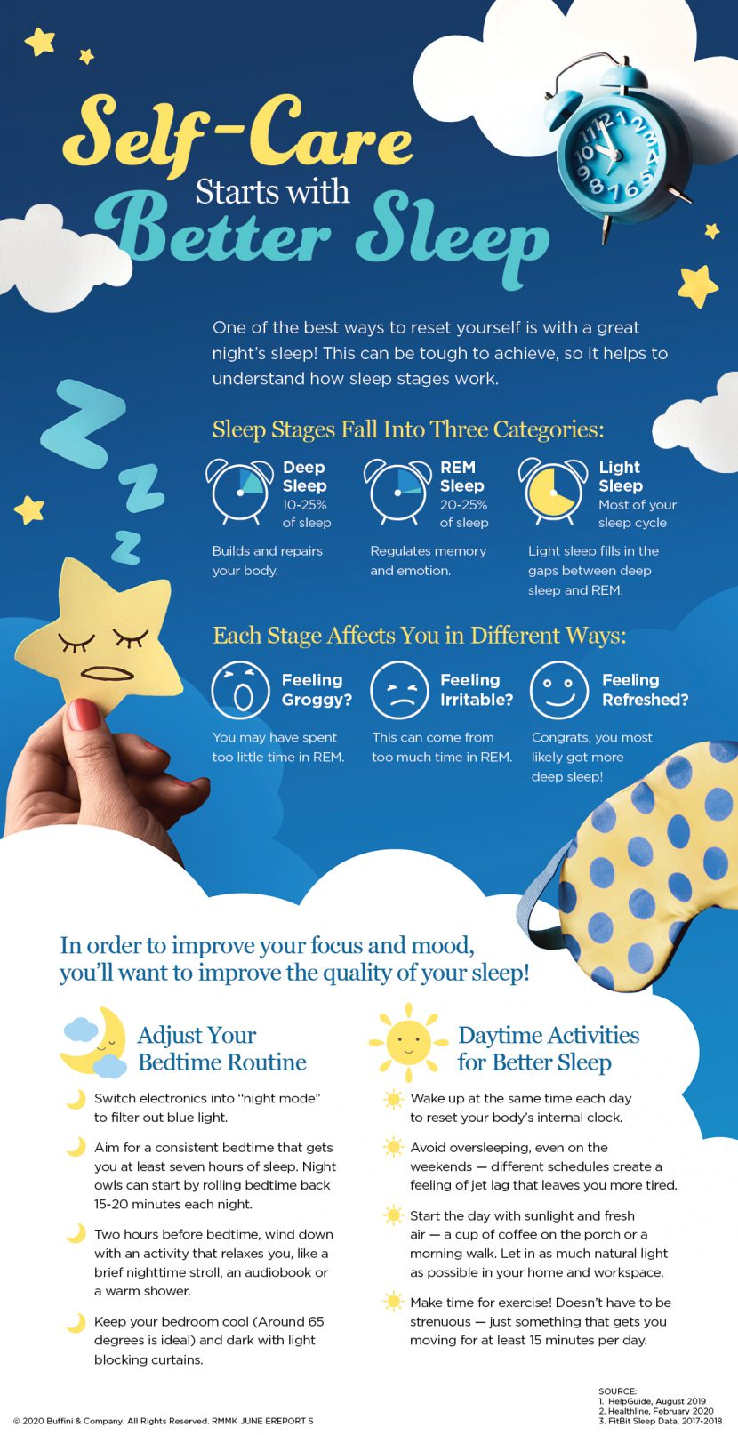 How to get better sleep to improve your focus and mood.