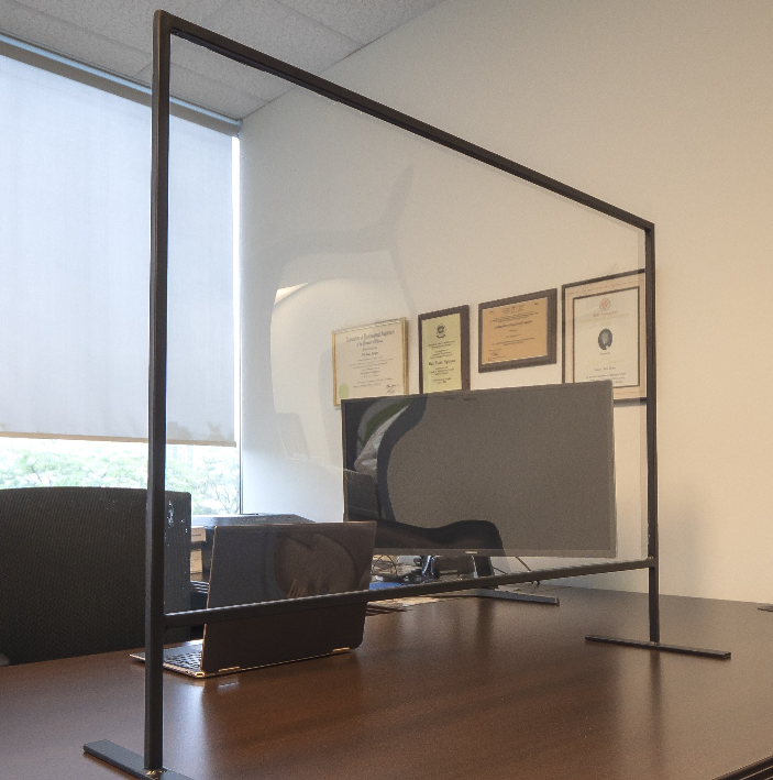 Wide Plexiglass Table Divider