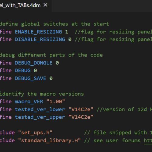 Example source code