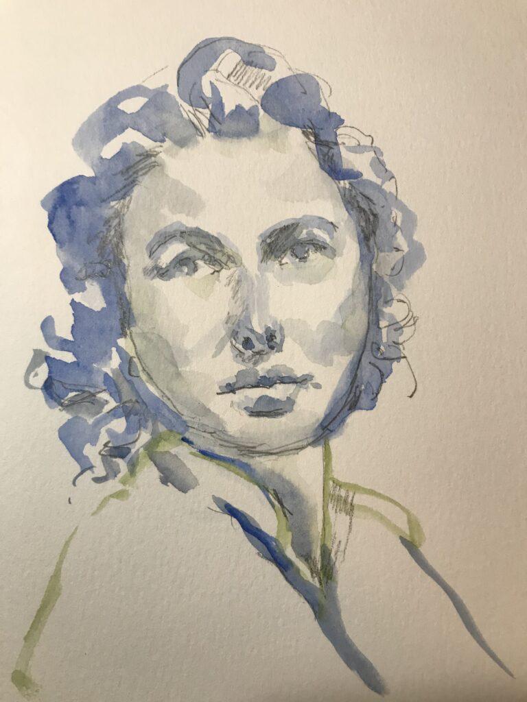 Ingrid Bergman 20 minute sketch