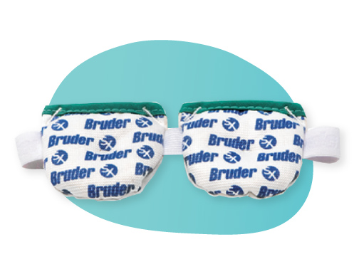 The Bruder moist heat compress helps unclogs meibomian glands and stabilizes tear film to improve pre-surgical measurements