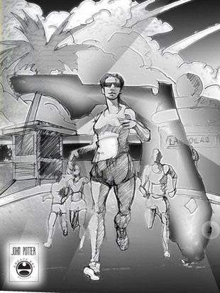 Fort Lauderdale A1A Marathon Poster Illustration