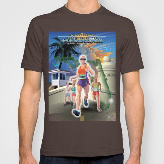 Fort Lauderdale A1A Marathon Poster Illustration t shirt