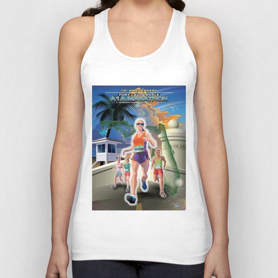 Fort Lauderdale A1A Marathon Poster Illustration tank top