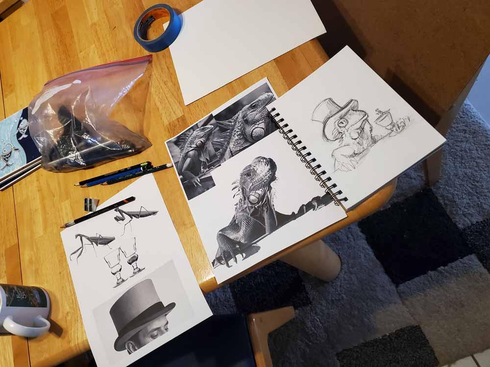 drawing preparation