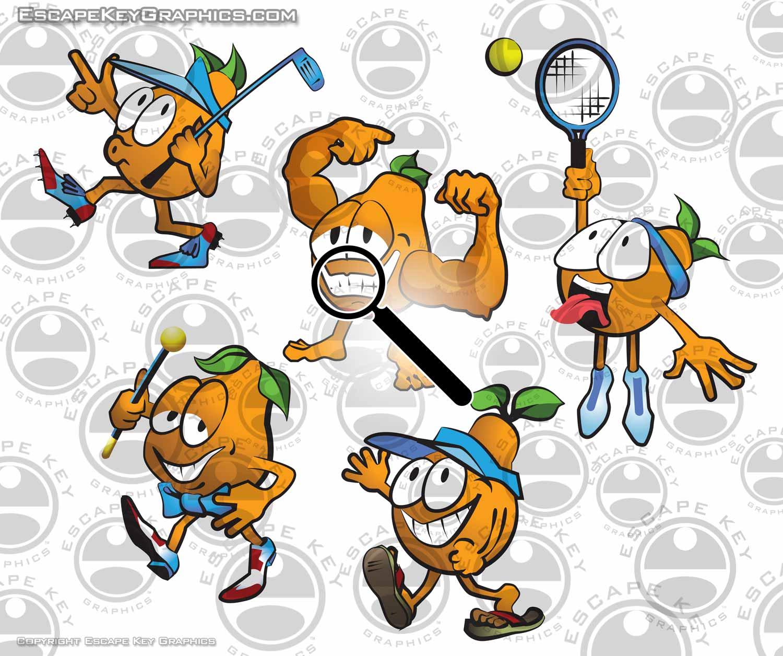 honeybell orange cartoon