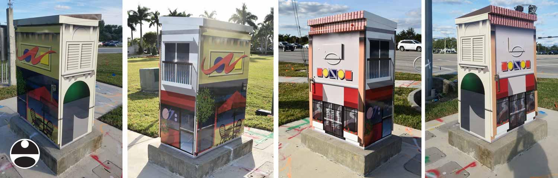 shopping street art
