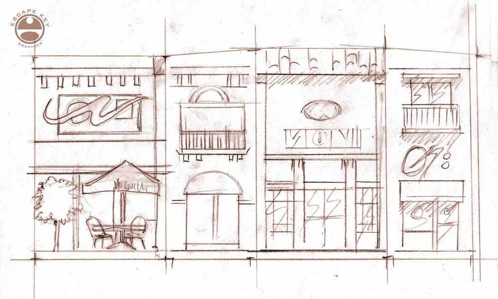 shopping sketch