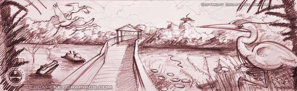 wetlands sketch
