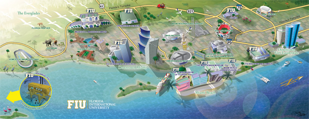 Florida International University South Florida Map