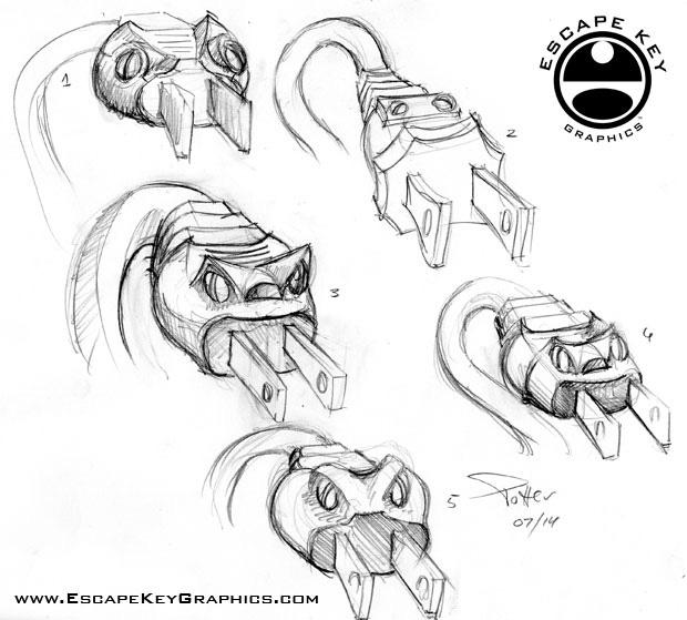 electric cord snake illustration