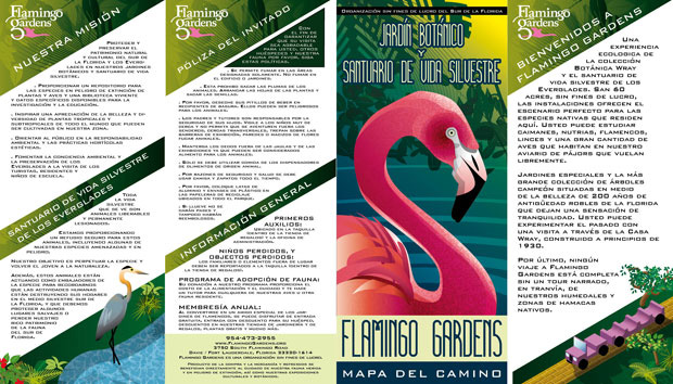 Flamingo Gardens brochure Spanish