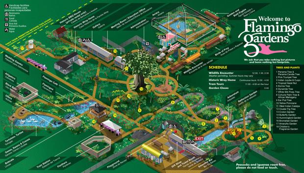 Flamingo Gardens map