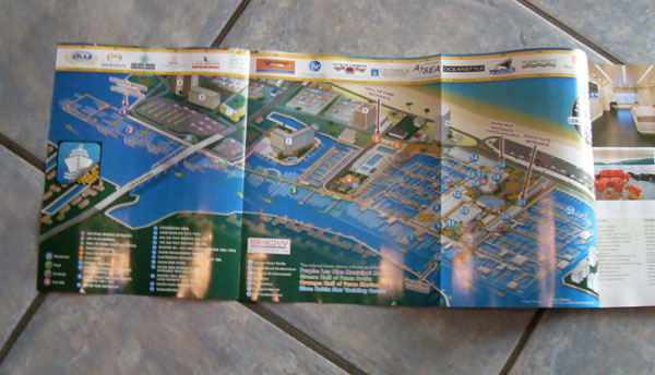 Map as it appears in Yachts International Magazine