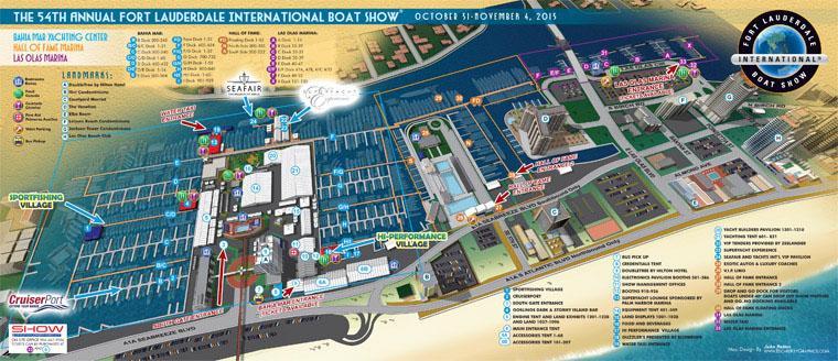 Fort Lauderdale International Boat Show map 2013