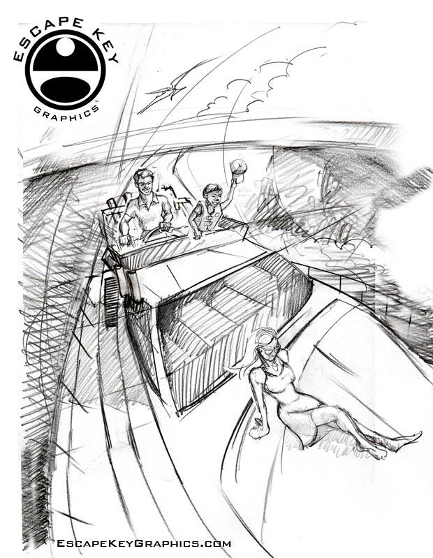sketch for an illustration