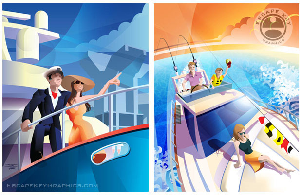 illustrations for the 2014 Fort Lauderdale International Boat Show