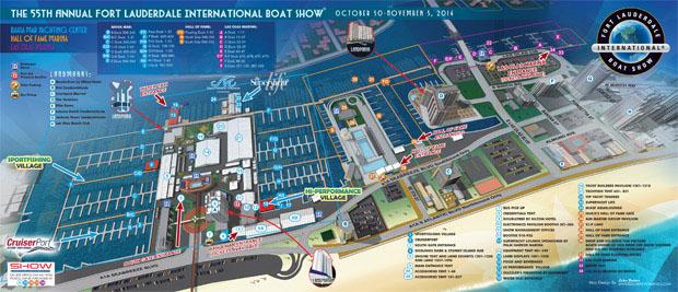 Fort Lauderdale International Boat Show map 2014