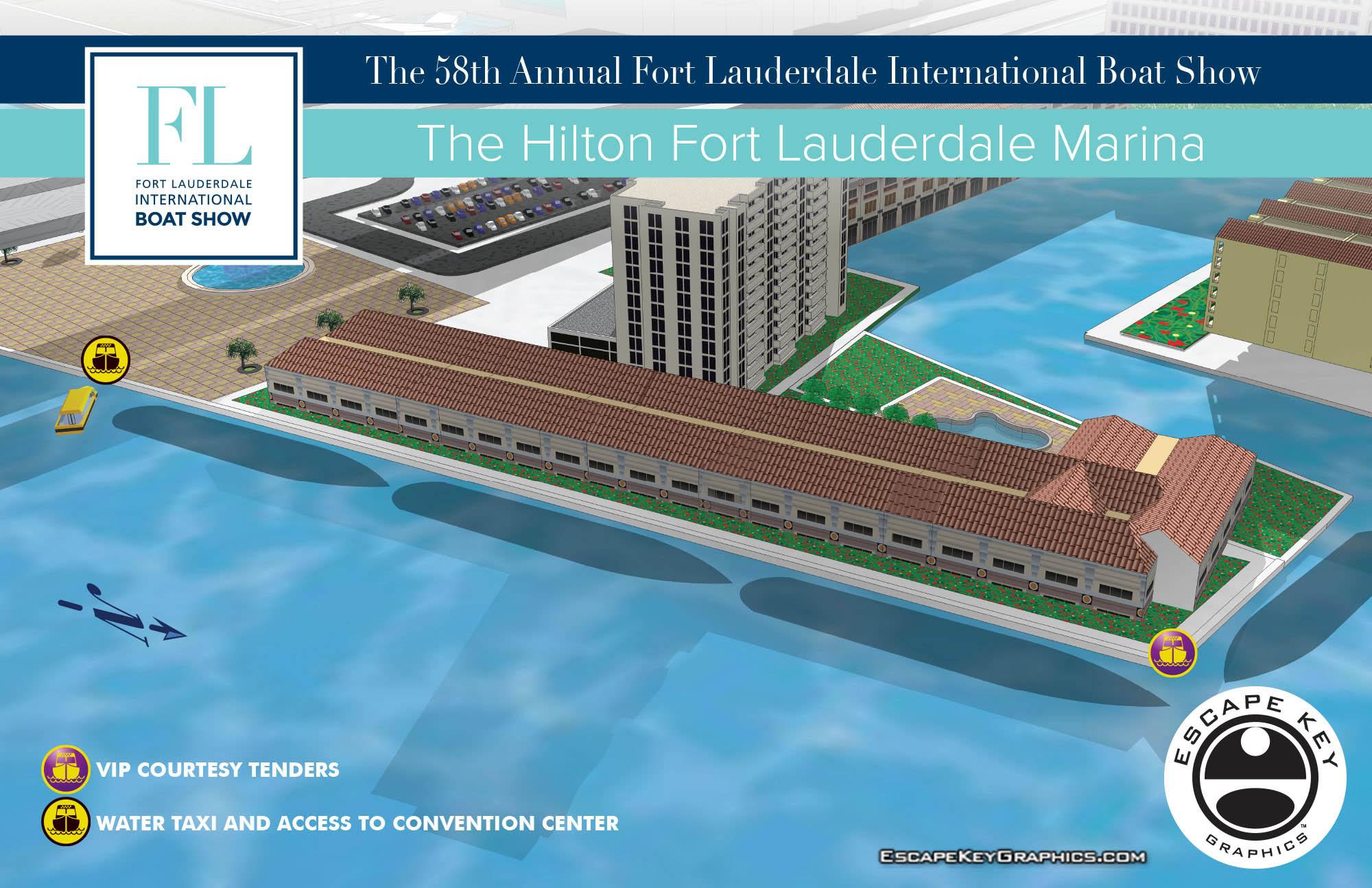 Fort Lauderdale International Boat Show map