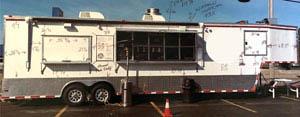 Illustrated food truck