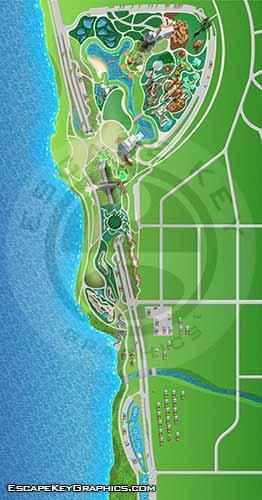 Public Park Illustrated Map