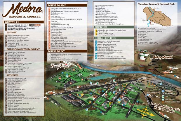 Medora ND Map
