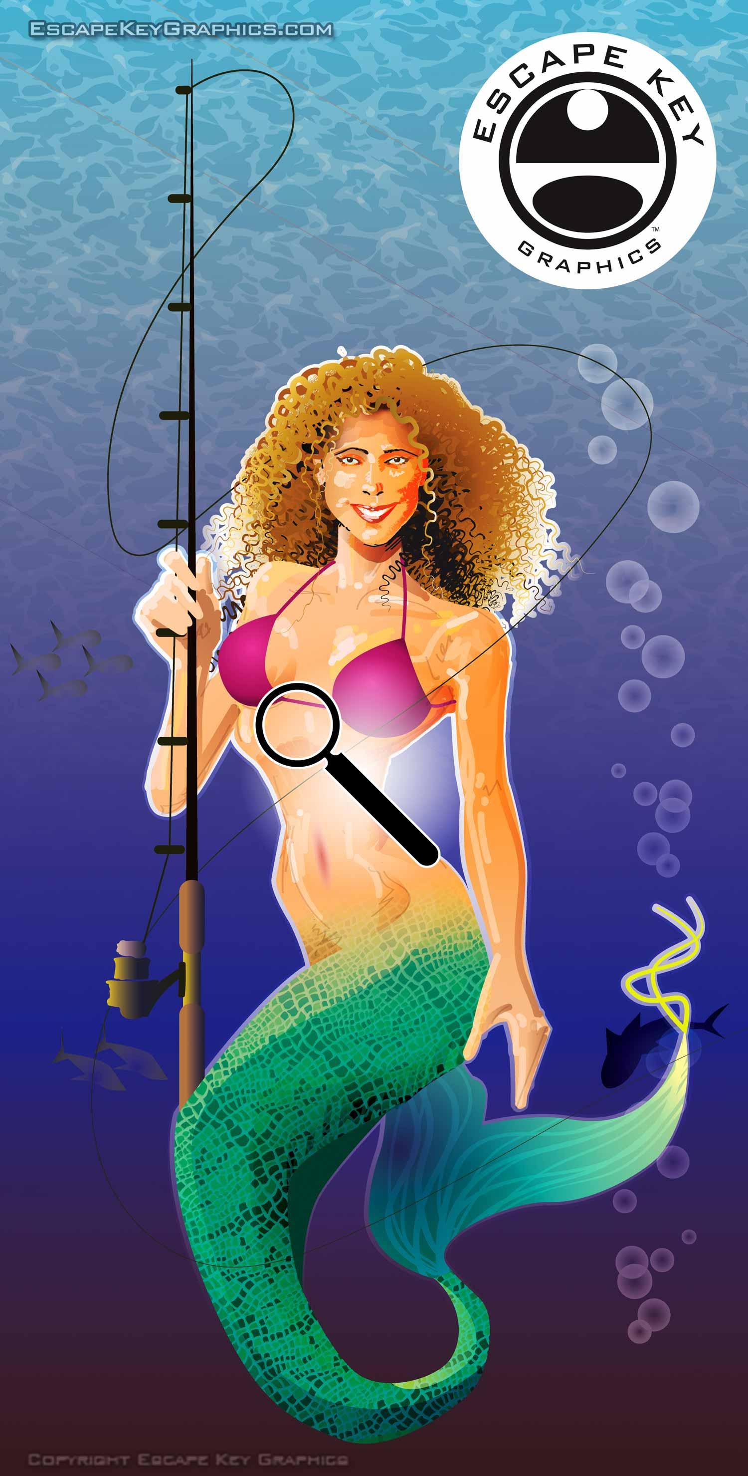 vector illustrated mermaid