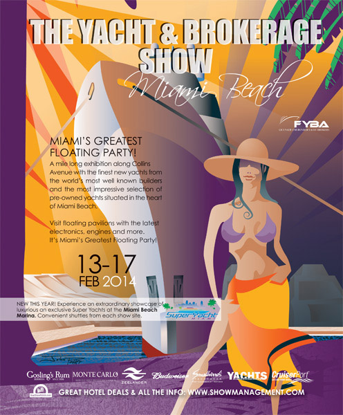 Miami Yacht and Brokerage Show 2014 illustration