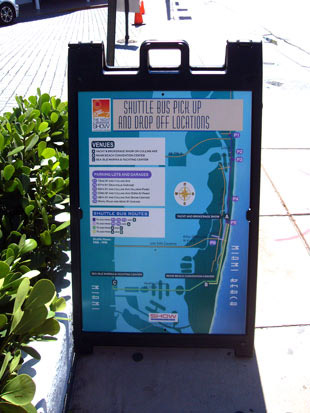 Miami Yacht and Brokerage Show bus routes map