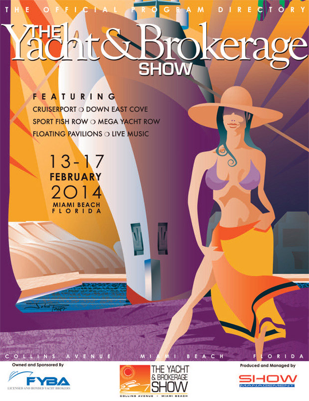 Boat Show illustration as the official program cover