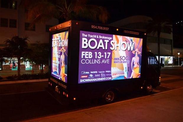 Boat Show illustration truck