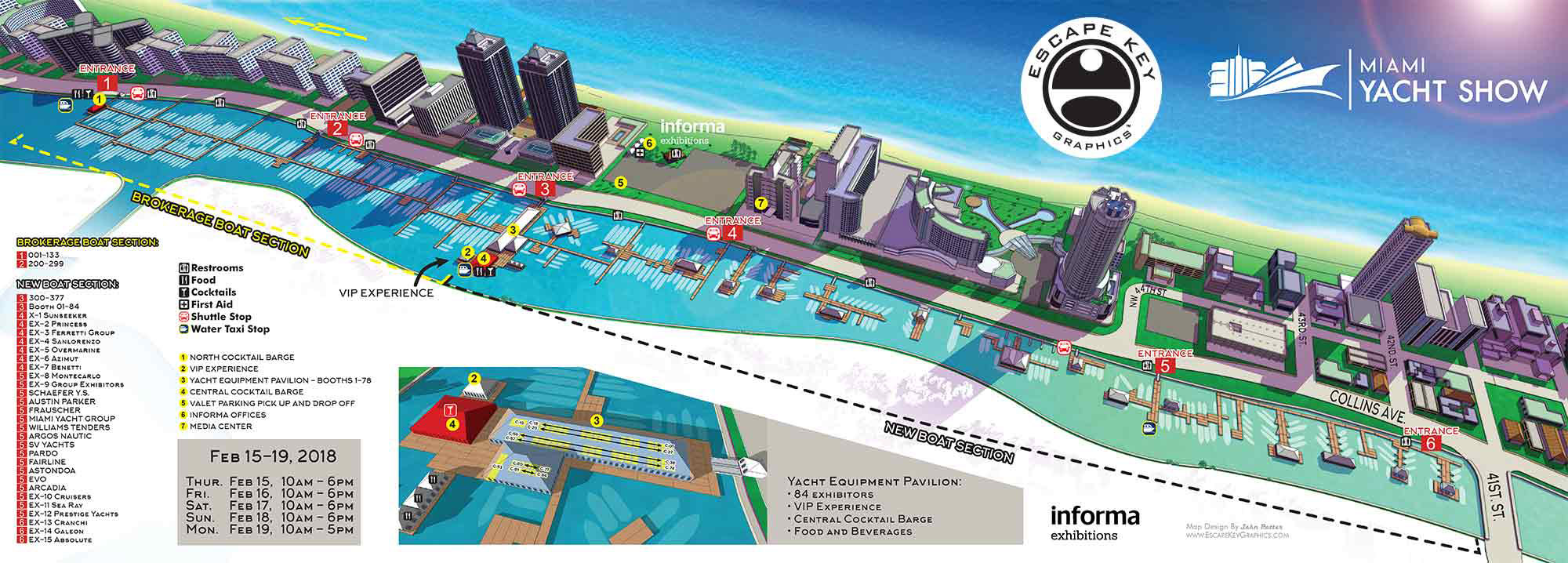 illustrated Miami Yacht Show Map