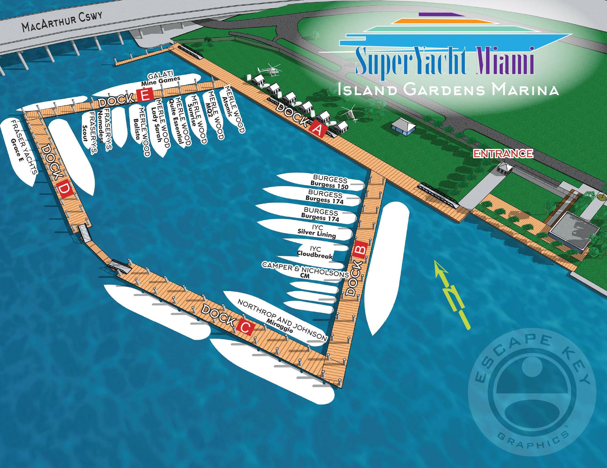 Island Gardens Marina Map