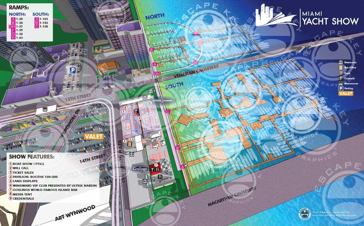Miami Yacht Show Map