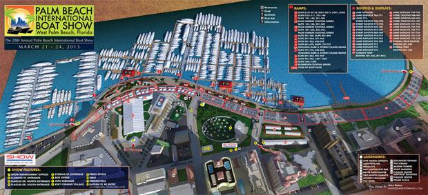 Palm Beach International Boat Show map 2013