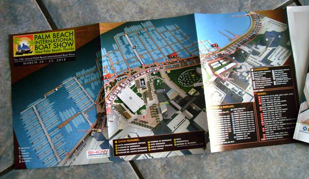 Palm Beach International Boat Show map 2014