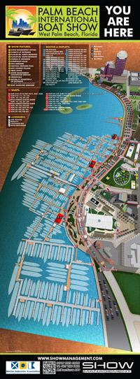 Palm Beach International Boat Show map sign