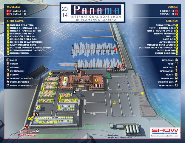 Panama International Boat Show Map
