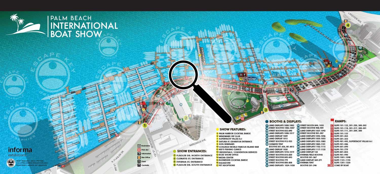 palm Beach Boat Show Map
