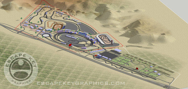 Illustrated Raceway Map