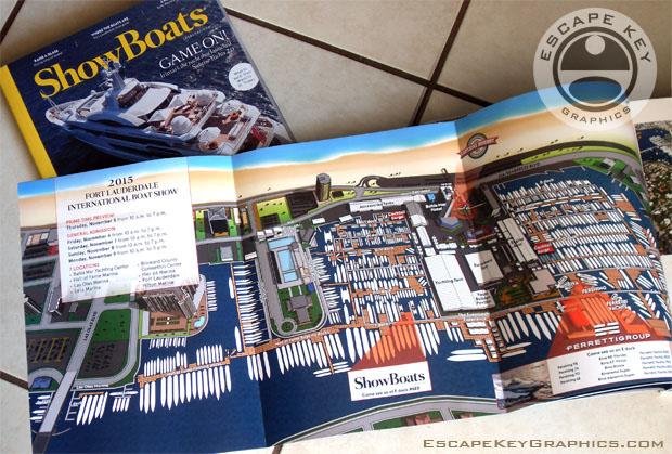 Fort Lauderdale International Boat Show 2015 map